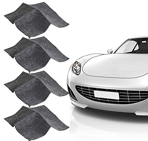 Nano Sparkle Tuch,4 Stück Auto Kratzer Entfernen,Nanomagic Tuch,Multi Purpose Kratzer Reparatur Tuch,Nano Autolack Removal Tuch,Easy Reparatur Von Kleinen Und Mittleren Scratches Paint Wasserflecken
