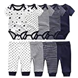 Baby Bodysuits Short Sleeve Onesies Baby Pants Trousers for Baby Boys and Girls