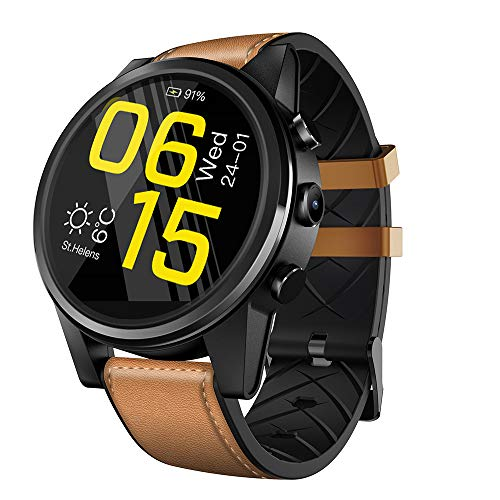 Docooler Zeblaze Thor 4 PRO 1.6-Inch Smart Watch Quad Core 1GB+16GB 320320 Pixel 5MP Camera Multi-Touch Screen Watch GPS Nano SIM WiFi Heart Rate Sports Smartwatch for iOS/Android