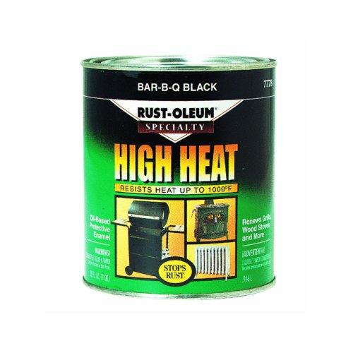 1-qt. Bar-B-Que Black Satin High Heat Paint (2-Pack)