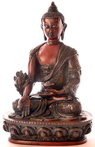 BudDHAFIGUREN/Billy Held Statuette de Bouddha en résine Marron 20 cm