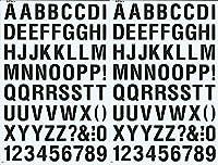 (シャシャン)XIAXIN 防水 PVC製 アルファベット ナンバー ステッカー セット 耐候 耐水 ローマ字 数字 キャラクター 表札 スーツケース ネームプレート ロッカー 屋内外 兼用 TS-540 (2点, ブラック)