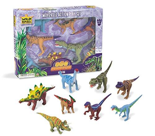 Wild Republic ECO Expedition – Dino DIG – Mobile Action Dinosaure Ensemble à partir de