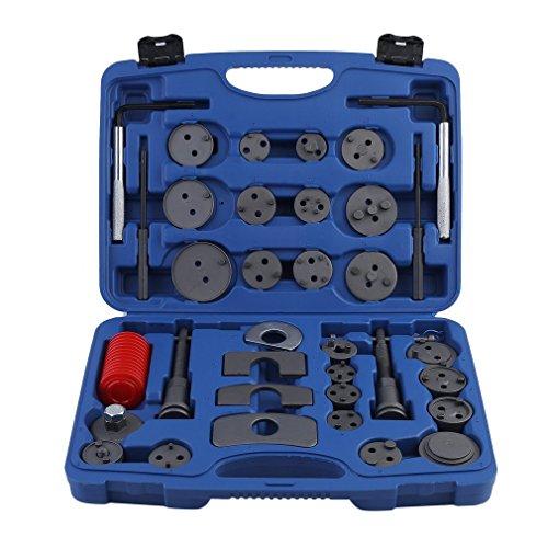 Dalkey123 35 TLG 35 TLG Bremskolbenrücksteller Set - Rückstellwerkzeug zum Zurückstellen des Bremskolben, KFZ-Werkzeug, universell (35-TLG)