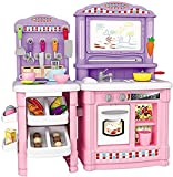 Delex Kitchen Playset Toy for Kids with Food and Accessories Pretend Role Playing