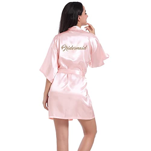 a7895c04e1 BOYANN Bridesmaid Dressing Gowns Satin Kimono Robe Nightwear For Women