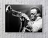 MeiMeiZ Miles Davis Poster, Standardgröße, 45,7 x 61 cm,
