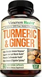 Turmeric Curcumin with Ginger, Bioperine. Occasional Joint Pain Relief, Supports Inflammatory...