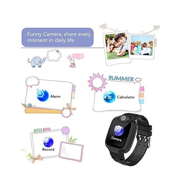 Niños Smart Watch Phone, La Musica Smartwatch para niños de 3-12 años Niñas con cámara Ranura para Tarjeta SIM Juego de… 8