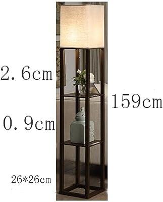 WZNING ヨーロッパやアメリカの木製E27のリビングルームのフロアランプ、寝室のベッドサイドランプ、テレビキャビネットコーヒーテーブルソファランプ 照明、ファッション (Color : Black)