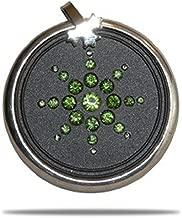 EHM Energy Balance Pendant - Negative Ion Balance Power -Green Crystal Ringed Scalar Energy Volcanic Lava Nano-Fusion Charm - Electromagnetic Field Protection & Energy Biofield Treatment Aid