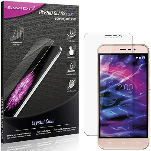 SWIDO Panzerglas Schutzfolie kompatibel mit Medion Life E5006 Bildschirmschutz-Folie & Glas = biegsames HYBRIDGLAS, splitterfrei, Anti-Fingerprint KLAR - HD-Clear