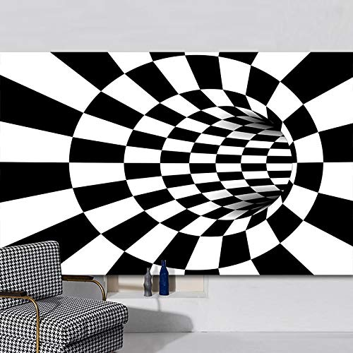 Alfombrillas De Rayas Blancas Y Negras Modernas De Estilo Europeo 3D Impresión Tridimensional Divertida Mesa De Centro Sofá Alfombra Sala De Estar Dormitorio Alfombra De Fiesta De Hotel