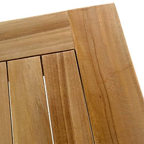 Nexos Trading Divero Esstisch Gartentisch Balkontisch - Holztisch Teak für den Innen- und Außenbereich - quadratisch witterungsbeständig massiv behandelt - 90 x 90 cm