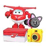 Baby Supplies HIL Edición Super Wings Caja De Juguetes De Deformación Super Equipo Deformación Simple Juguetes para Niños Y Niñas Plano Deformado Juguete Robot Regalo Favorito De Los Niños,Jett