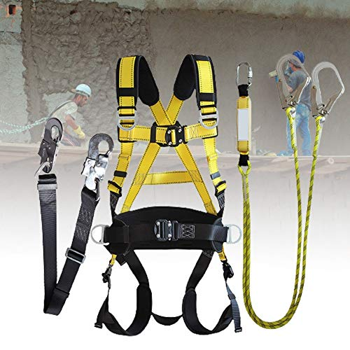 ZPCSAWA Cinturones de Seguridad para Hombre y Mujer, Arnés de Seguridad de Escalada de Montaña Ajustable Multiusos para Rescate Escalar Montañismo