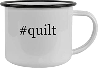 #quilt - 12oz Hashtag Stainless Steel Camping Mug, Black