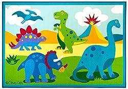 3. Wildkin Kids Olive Kids Dinosaur Land Rug
