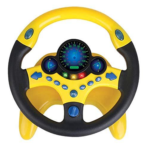 JsJr-K-In Juguete para volante, volante de simulación con luz para bebés y niños, juguetes educativos musicales para desarrollo de regalos de cumpleaños (3 pilas AA no incluidas).