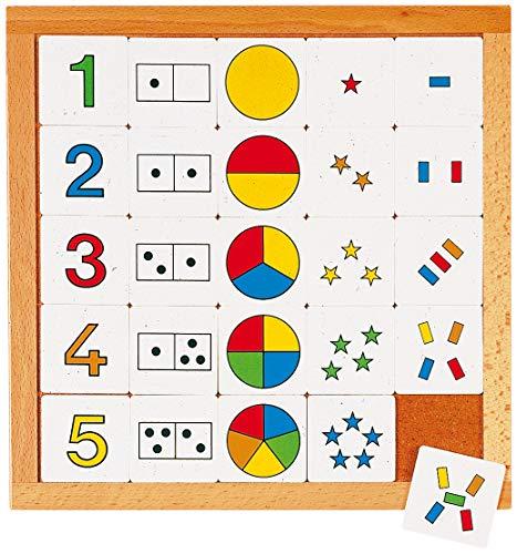 Educo | Zähldiagramm 1-5 | Lehrmaterialien Mathematik | Mathematik - Rechnen - Zahlensinn und Zählen | Ab 84 Monate | Bis 144 Monate