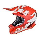 just1Casco j32pro Kick White/Red Matte Taglia L