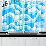 Reopx Labyrinth-Spiel-Pinguin, der Haus-Küchen-Vorhänge-Fenster-Vorhang-Reihen für Café, Bad,...
