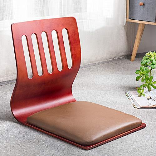 Silla de piso portátil, silla japonesa de suelo, silla de meditación sin piernas Tatami con soporte trasero para lectura de videojuegos D
