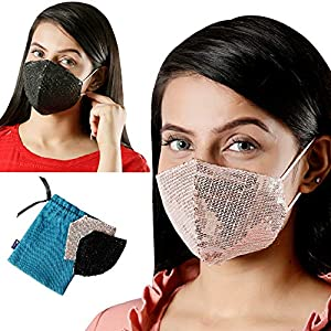 Maple Unisex Cotton Printed Face Mask with Cotton Earloop – Fashion Reusable and Washable Breathable Anti Pollution/Dust Protection 3 Layer Filtration Assorted Multicolour |Pack of 2, Free Size