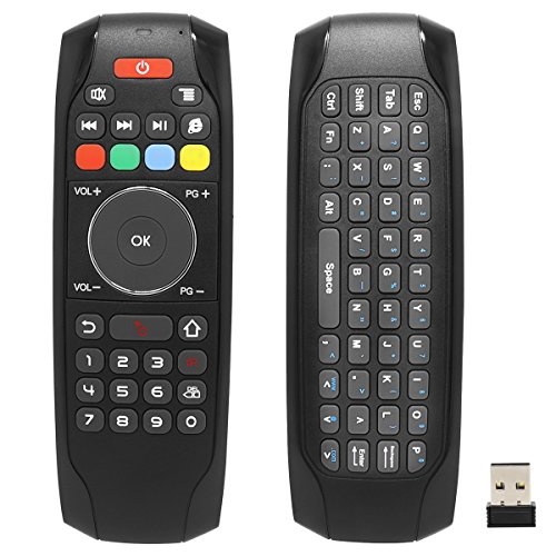 Smart Remote Replacement, BIFANS Fly Air Mouse Multifunctional Remote with Keyboard, Mini Wireless Keyboard & Remote Control for KODI Android TV Box HTPC IPTV PC Pad (G7)