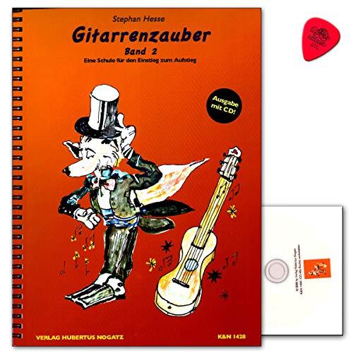 Gitarrenzauber Band 2 mit CD und Dunlop Plek - Gitarrenschule von Stephan Hesse