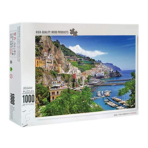 Q.A Puzzle de 1000 Piezas de Juguetes educativos para Adultos, para Adultos y niños, se Puede Utilizar para la decoración de la casa Egeo-mer