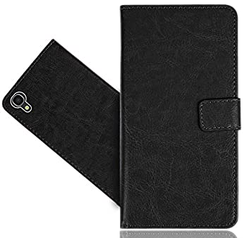 Alcatel OneTouch Idol 3  5.5   Case FoneExpert Genuine Leather Kickstand Flip Wallet Bag Case Cover for Alcatel OneTouch Idol 3  5.5