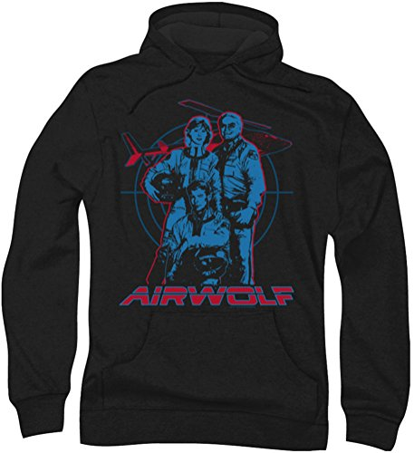 Airwolf - - Graphic Hoodie pour hommes, Large, Black