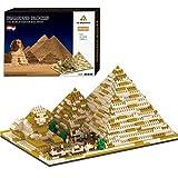 HYZM Arquitectura de Egipto Pirámide de 1456 piezas Nano Mini Blocks Egipto maqueta de arquitectura modelo arquitectura modelo arquitectura no compatible con Lego