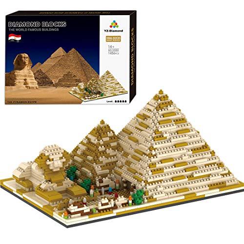 HYZM Architettura Egitto, 1456 pezzi Nano Mini Blocks Architettura Egitto, Architettura Modellino architettura modello architettura non compatibile con Lego