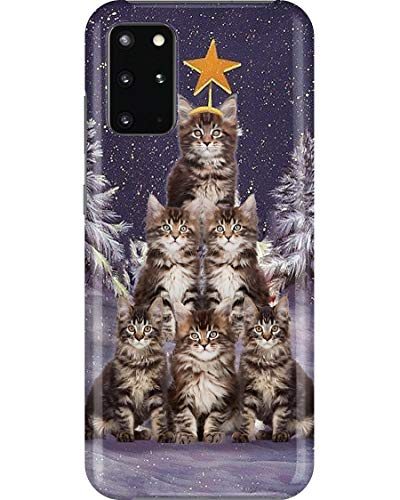 Cat Christmas Tree Phone Case for Samsung Galaxy Note 9 - Case with 3D Printed Design, Slim Fit, IMD Soft TPU Cover