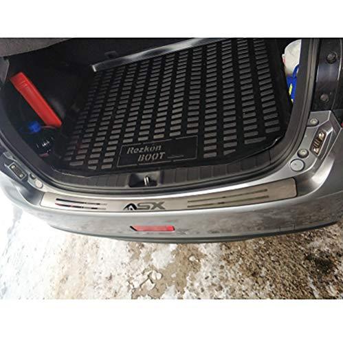 1 STÜCK Kofferraumpedalschutz Edelstahl Heckstoßstange Außenstämme Außenverkleidung Dekorative Heckverkleidungsplatte Geeignet für Mitsubishi ASX 2010-2018
