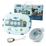 Bento Box für Kinder Brotdose BPA-frei Kinder Brotdose edelstahl mit Fächern,Brotdose Schule mit Fächern Lunchbox Kinder für Kindergarten & Schule-Auslaufsicher