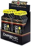 Crown Sport Nutrition Gel Energetico - Carboidrati, Caffeina, Guaranà, Elettroliti, Tauri...
