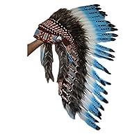 HAUTE QUALITÉ --- Conçu pour 53,4 cm ou 21 pouces de tour de tête. Tous nos chapeaux indiens sont 100% faits à la main. Chez KarmaBcn, nous nous engageons à vous fournir des costumes soigneusement conçus et des matériaux de qualité supérieure. Nous u...