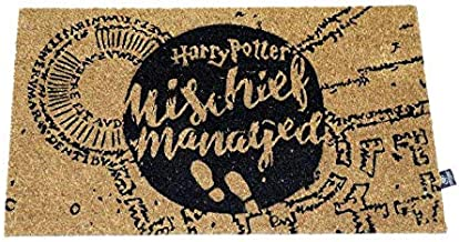 HARRY POTTER Doormat Mischief Managed Doormat Official Merchandising Reference DD Home Textiles Unisex Adult, Multicolor (...