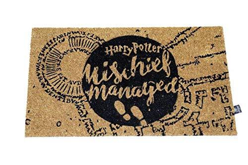 Harry Potter Felpudo Mischief Managed Doormat Official Merchandising Referencia DD Textiles del hogar Unisex Adulto, Multicolor (Multicolor), única