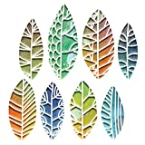 Sizzix Set de Troqueles Thinlits 8 pzas 664431 Hojas Recortadas by Tim Holtz, multicolor, Talla única