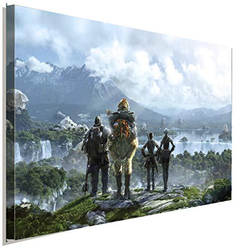 AK ART Leinwandbild Final Fantasy XIV A Realm Reborn Kunstdruck Wandbild TOP XXL (80 x 60 cm)