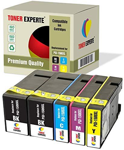 5 XL TONER EXPERTE® PGI-1500XL Druckerpatronen kompatibel für Canon MAXIFY MB2050 MB2150 MB2350 MB2750 MB2755 MB2155 (2 Schwarz, Cyan, Magenta, Gelb)