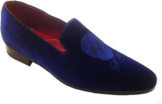 Mocassini Slippers in Velluto con Ricamo Personalizzato