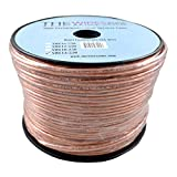 Car Home Audio Speaker Wire Transparent Clear Cable 14AWG 14/2 Gauge (250 feet)