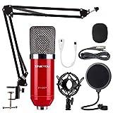 ZINGYOU Condenser Microphone Bundle, ZY-007 Professional Cardioid Studio Condenser Mic Include...