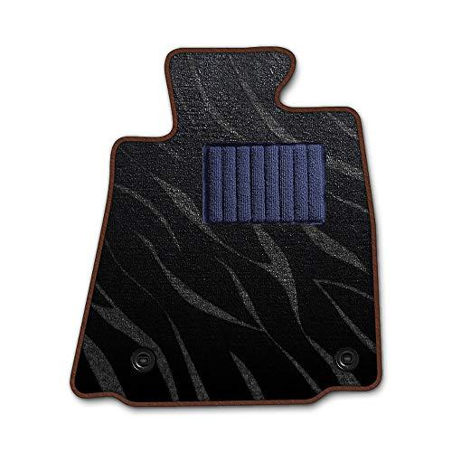 DAD ギャルソン D.A.D エグゼクティブ フロアマット NISSAN ( ニッサン ) PINO ピノHC24S 1台分 GARSON プレステージデザインブラック/オーバーロック(ふちどり)カラー : ブラウン/刺繍 : 無し/ヒールパッドネイビー