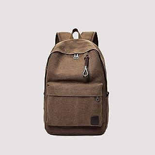 PANFU-AU Water Resistant Big Business Backpack Retro Simple Small Bag Retro Simple Small Backpack Bag Laptops Notebook Bag (Color : Brown)